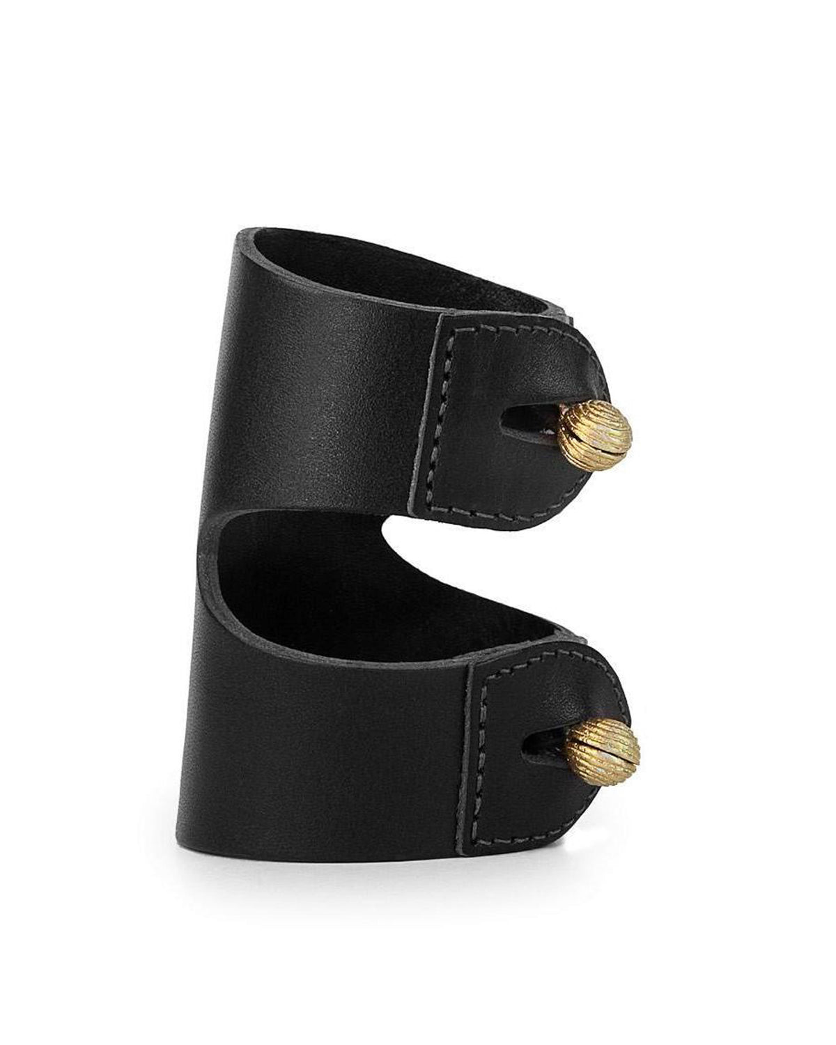 CAGANCHO CUFF in Black Napa