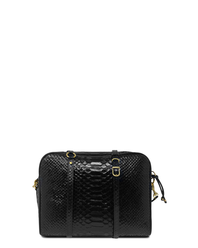 CHICA in Black Embossed Python