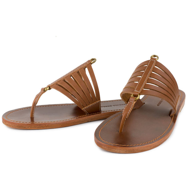 CINCHA SANDALS in Cognac Bridle Leather