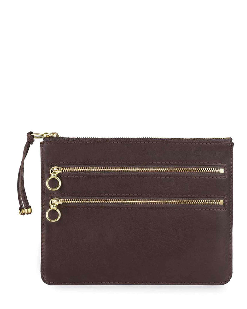 COCO CASE in Chocolate Napa Leather
