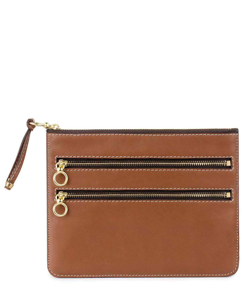 COCO CASE in Cognac Napa Leather