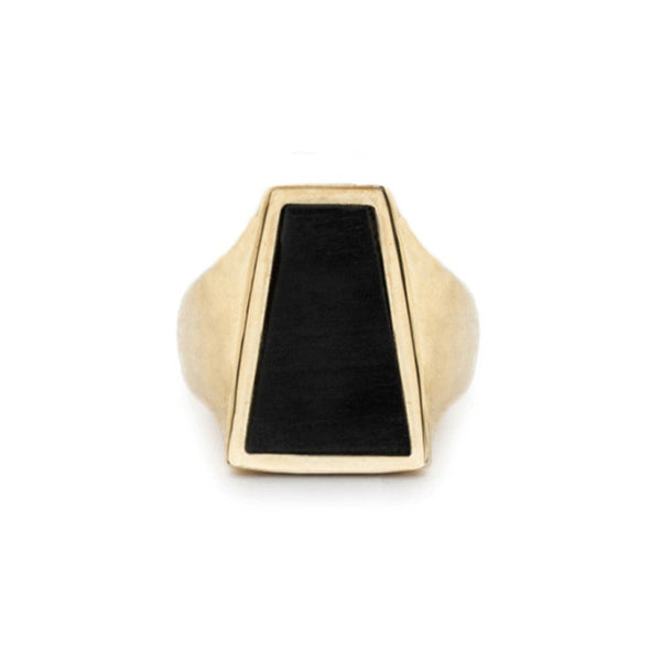 EBONY SIGNET RING