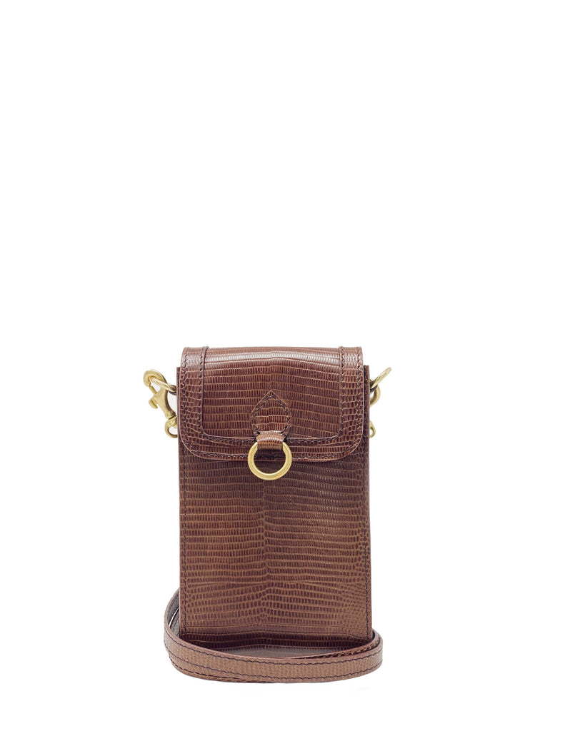 GITANA MINI in Praline Lizard Embossed
