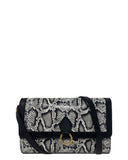 GITANA WALLET in Black and White Embossed Snake