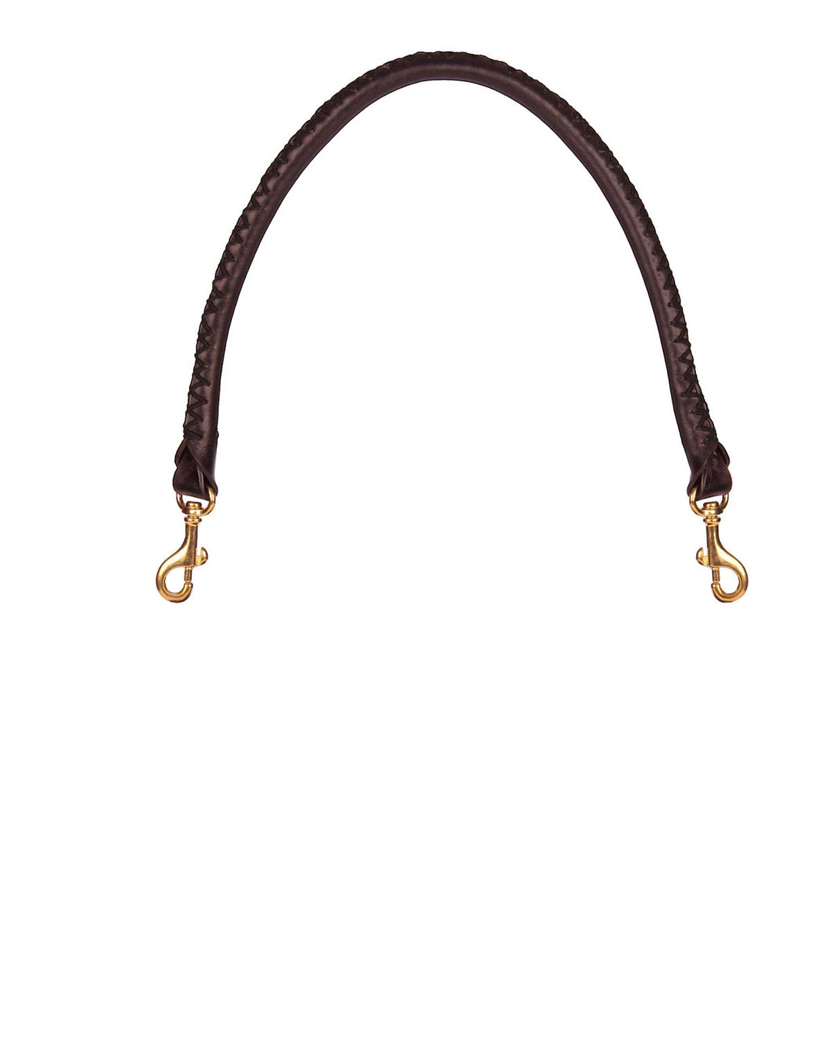 HAND-STITCHED SHOULDER STRAP in Chocolate Napa