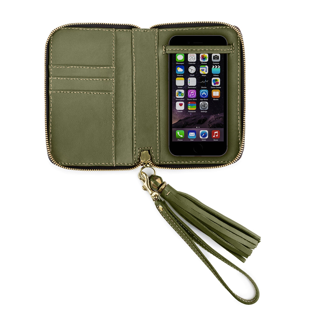 iPHONE CASE in Loden Napa