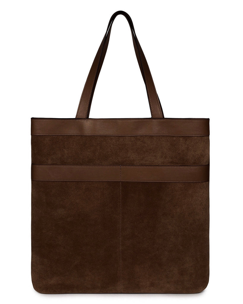 MARBELLA TOTE in Chocolate Suede