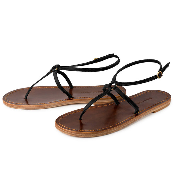 MARTINGALA SANDALS in Black Napa Leather