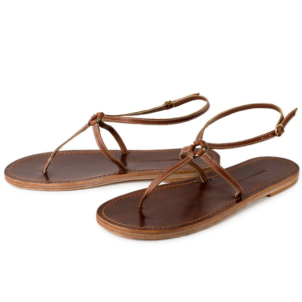 MARTINGALA SANDALS in Cognac Napa Leather