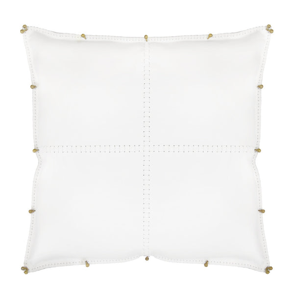 ALMOHADA in White Bridle Leather