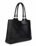 SEGOVIA TOTE in Black Napa