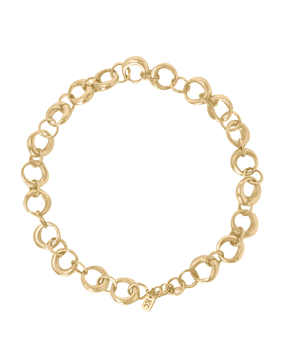 ROUNDED RING COLLAR NECKLACE