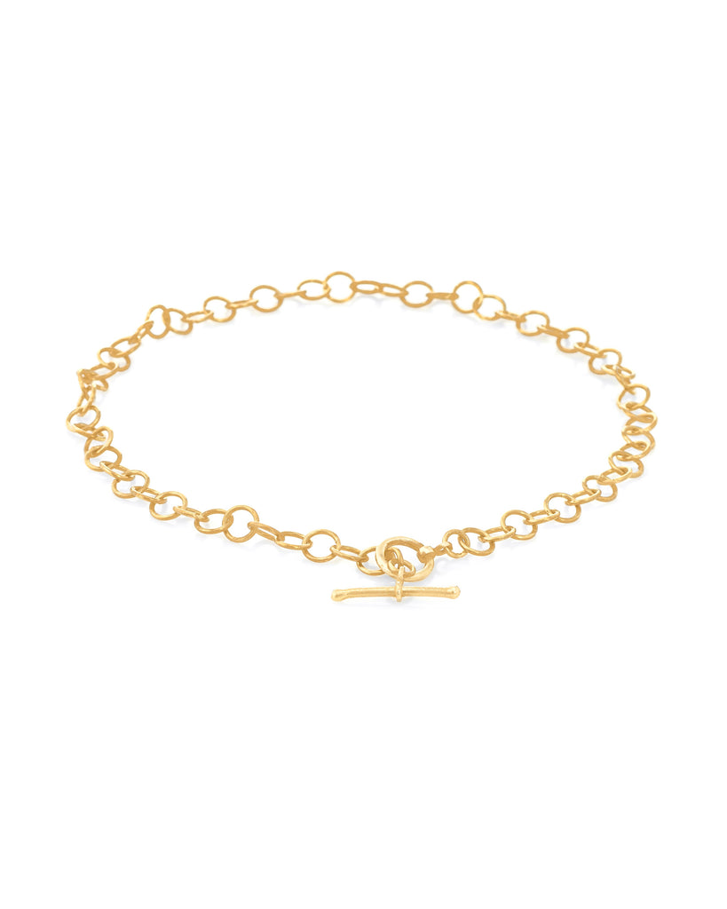 TOGGLE CHAIN ANKLET