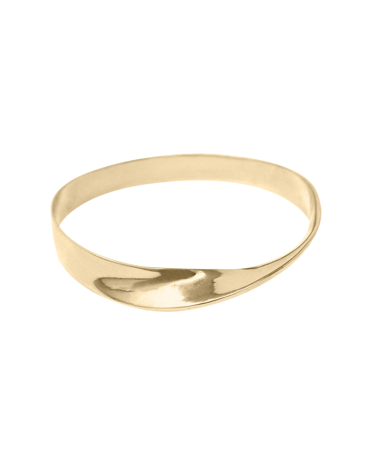 twisted brass bangle