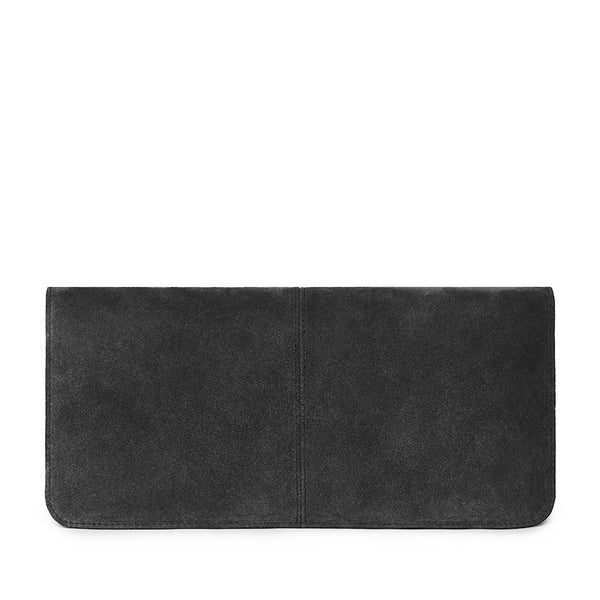 VIDA CLUTCH in Carbón Suede