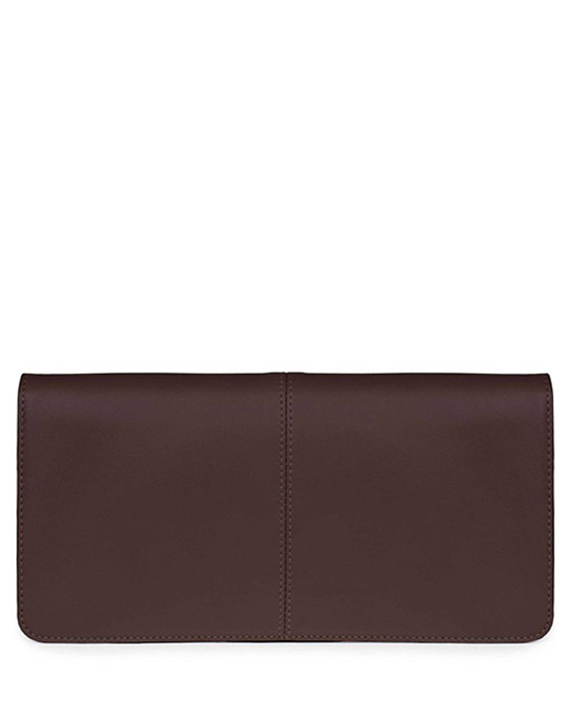 VIDA CLUTCH in Chocolate Napa