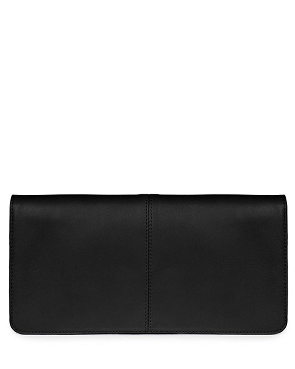 VIDA CLUTCH in Black Napa