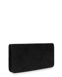 VIDA CLUTCH in Black Suede