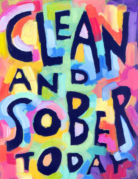 Clean and Sober - 12 step Recovery Poster