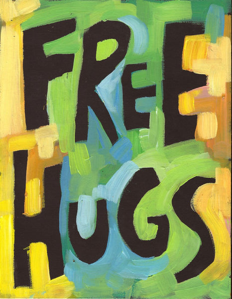 Free Hugs - Office, Classroom, Kids Room Poster