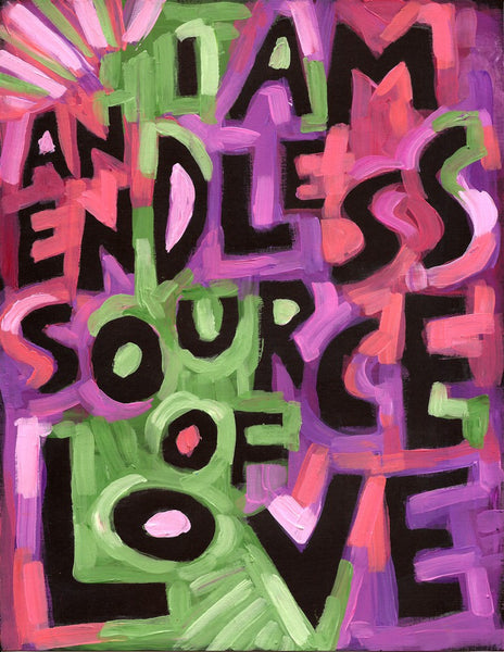 I Am an endless Source of Love -Meditation poster