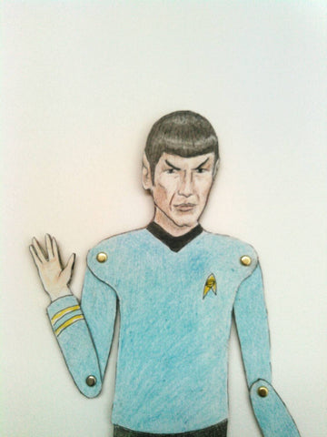 Spock Articulated Paper Doll