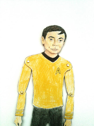 Mr. Sulu Articulated Paperdoll