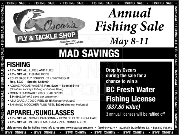 Oscar's Annual Fishing Sale