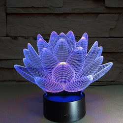 3D Lotus LED Nightlight