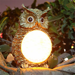 Solar Owl Garden Light