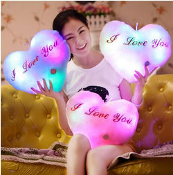 Colorful Heart LED Pillow
