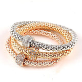 Bracelets - 3 PCS/Set Crystal Butterfly & Heart Bracelet