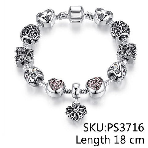Bracelets - European Authentic Crystal Charm Bracelets