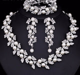 Bridal Set - Mecresh 3 Piece Simulated Pearl Bridal Jewelry Sets