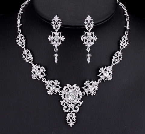Bridal Set - Mecresh Crystal Wedding Jewelry Sets