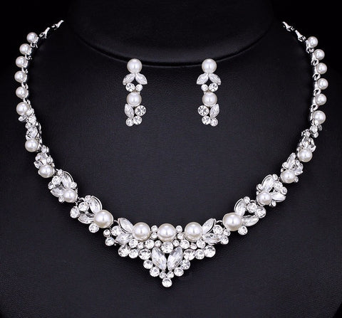 Bridal Set - Mecresh Simulated Pearl Bridal Jewelry Sets