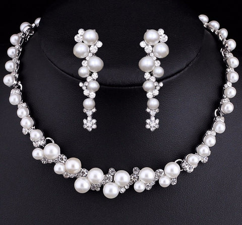 Bridal Set - Simulated Pearl Bridal Jewelry Sets