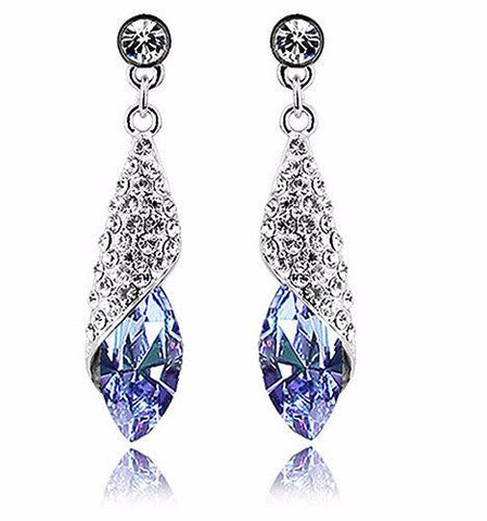 Earrings - Rhinestone Teardrop Earrings