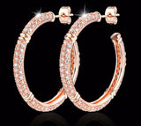 Earrings - Rose Gold Plated Crystal Drop Earrings