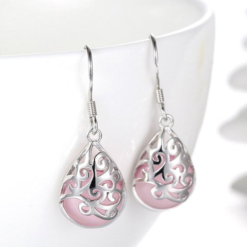 Earrings - Stone Water Drop Earrings
