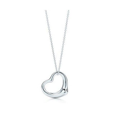 Necklace - Silver Plated Heart Pendant Necklace