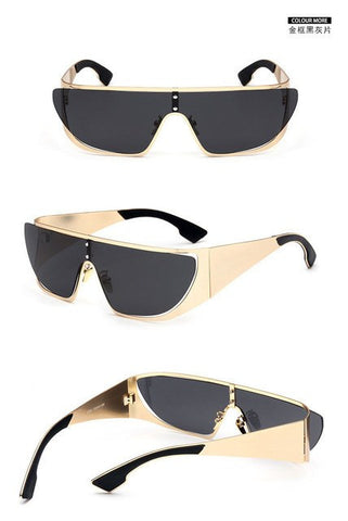 Sunglasses - Rimless Polarized Shield Sunglasses