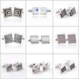 Tie Clips & Cufflinks - Business Men Square Cufflinks