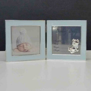 HINGED RECORD FRAME BABY BOY - Jamjo Online