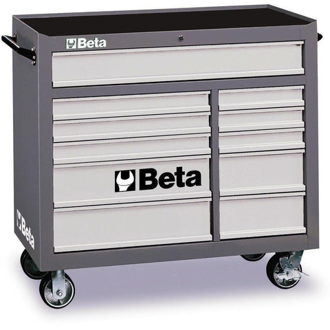 Beta Tools - 11-Drawer, Roller Cabinet - C38-Roller Cabinet-Beta Tools-Grey-Torque Toolboxes