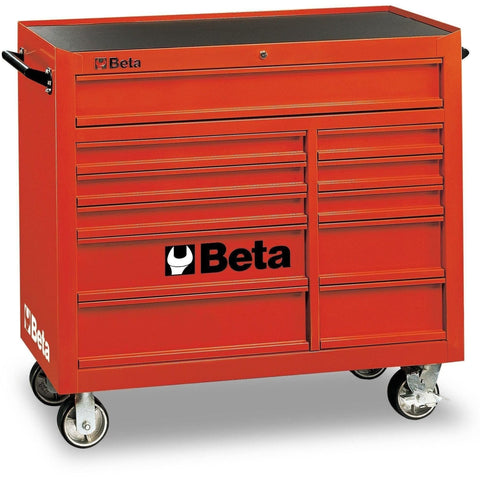 Beta Tools - 11-Drawer, Roller Cabinet - C38-Roller Cabinet-Beta Tools-Red-Torque Toolboxes