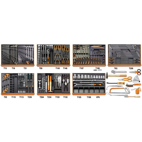 Beta Tools - 212pc. Car Repair Tool Set - 5908VG/2T-Tool Set-Beta Tools-Torque Toolboxes