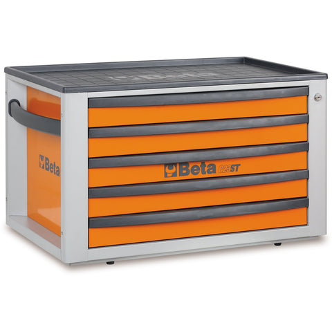 Beta Tools 2300 ST-O/VG1M Tool Chest C23ST + 76 PCS-Tool Chest-Beta-Tools-Orange C23ST + 76 PCS-Torque Toolboxes