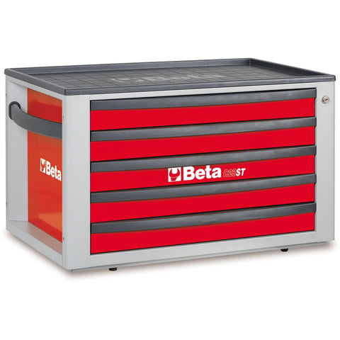 Beta Tools 2300 ST-O/VG1M Tool Chest C23ST + 76 PCS-Tool Chest-Beta-Tools-Red C23ST + 76 PCS-Torque Toolboxes