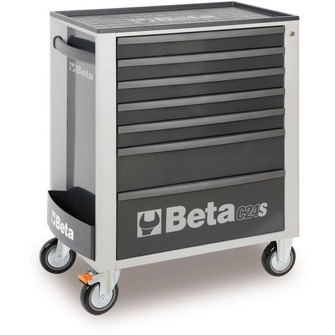 Beta Tools 2400 S7-O/VG3 Mobile Roller Cabinet C24S/7 + 132PCS-Roller Cabinet-Beta-Tools-Grey C24S/7 + 132PCS-Torque Toolboxes